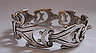 Mexican Sterling Link Bracelet, c. 1950