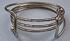 Silver-plated Modernist Bangle Bracelet, c. 1960