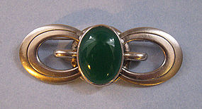 Sterling and Stone Bar Pin