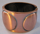 Wide Copper Hinged Bangle