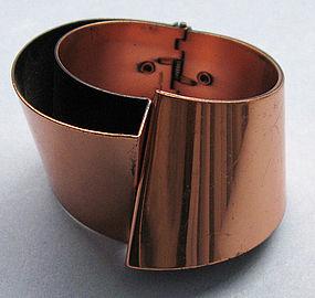 Renoir Copper Hinged Bangle
