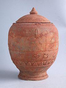 Large Chinese Song / Yuan Dynasty Buddhist Zodiac Jar
