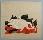 Japanese Tosa Erotic Painting. 17/18th. c. Edo Period
