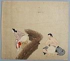 Japanese Tosa Erotic Painting 17/18th. c. Edo Period