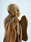 Japanese Wood Mingei Figure Priest Edo Period 18th.c