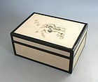 Rare Japanese Signed Lacquer Box with Tomobako. Showa