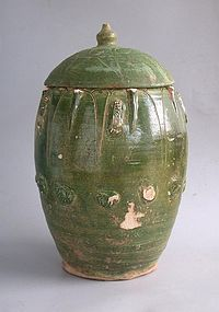 Rare Chinese Song / Yuan Dynasty Buddhist Zodiac Jar