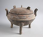 Fine Large Chinese Western Han Dynasty Pottery Ding