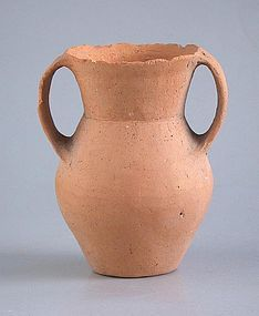 Chinese Neolithic Twin-Handled Pottery Jar - Qijia