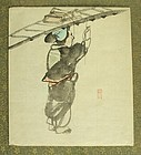 Fine Japanese Shijo Drawing by Dozan. Late Edo Period