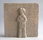 Large Chinese Jin Dynasty Pottery Tile - Female Figure