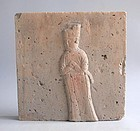 Large Chinese Jin Dynasty Pottery Tile - Male Figure