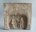 Large Chinese Jin Dynasty Filial Piety Tile - Lu Ji