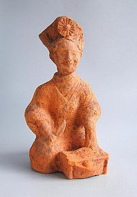 Large Chinese Eastern Han Dynasty Sichuan Pottery Figure - Female Cook