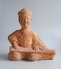 Large Chinese Eastern Han Dynasty Sichuan Pottery Figure - Musician
