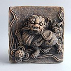 Chinese Ming Dynasty Pottery Lion Dog Tile with Oxford TL Test