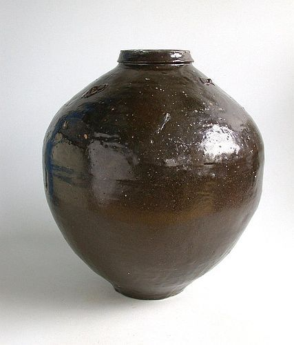 Large Thai 19th Century Stoneware Storage Jar