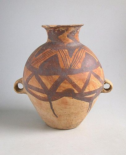 Large Chinese Neolithic Painted Pottery Jar - Machang c.2300 - 2000 BC