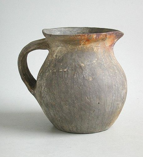 Fine Rare Chinese Warring States Painted Pottery Jug