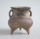 Fine & Rare Chinese Neolithic Pottery Tripod - Qijia Culture