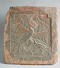 Fine Large Chinese Jin Dynasty Stone Tile - Phoenix (AD 1115 - 1234)