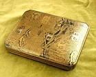 Rare & Unusual Japanese Gold Lacquer Suzuribako. Early Edo Period.