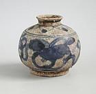Chinese Ming Dynasty Blue & White Porcelain Jar - Fo Dog