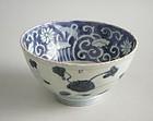 Fine Chinese Ming Dynasty Blue & White Porcelain Bowl - Jiajing