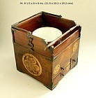Exceptional Japanese Wood + Gold Lacquer Tobako-bon 19th.cent.