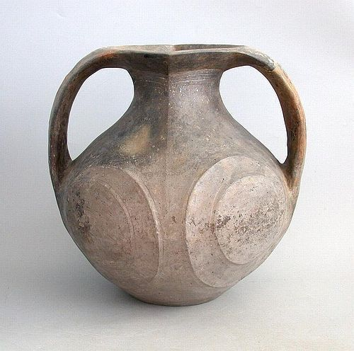 Rare Large Chinese Han Dynasty Burnished Pottery Amphora