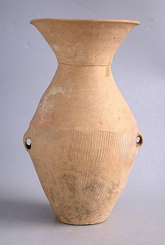 Tall Chinese Neolithic Qijia Culture Pottery Jar