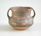 Chinese Neolithic Machang Phase Painted Jar (c.2300 - 2000 BC)