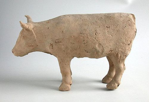 Large Chinese Han Dynasty Pottery Ox (206 BC - AD 220)