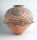 LARGE Chinese Neolithic Machang Phase Painted Pottery Jar with TL Test