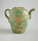 Fine & Rare Chinese Ming Dynasty Glazed & Incised Pottery Ewer - Kochi