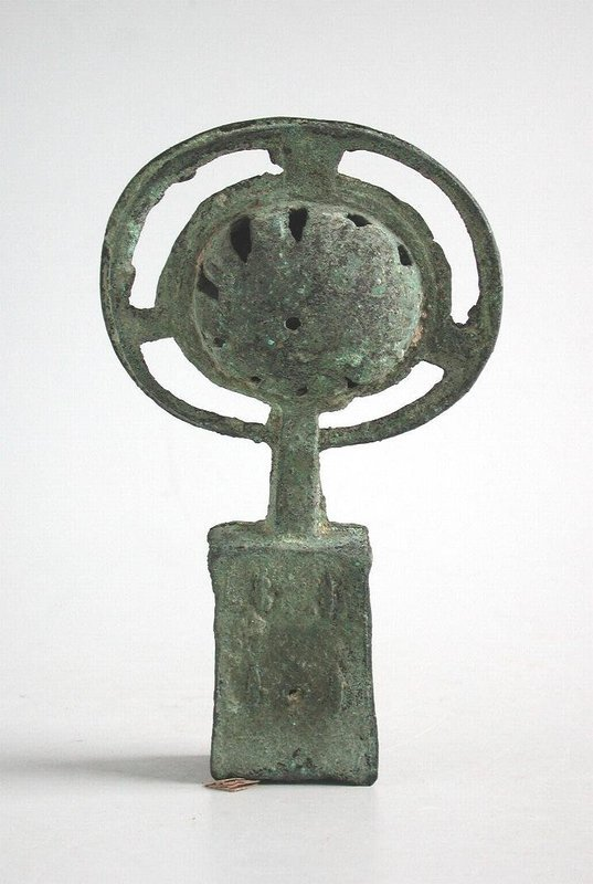 Rare Chinese Han Dynasty Bronze Chariot Bell