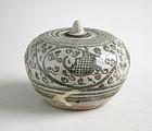 Thai 14th - 15th Century Sawankhalok Covered Box