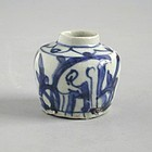 Chinese Ming Dynasty Blue & White Porcelain Deer Jarlet - Wanli Reign