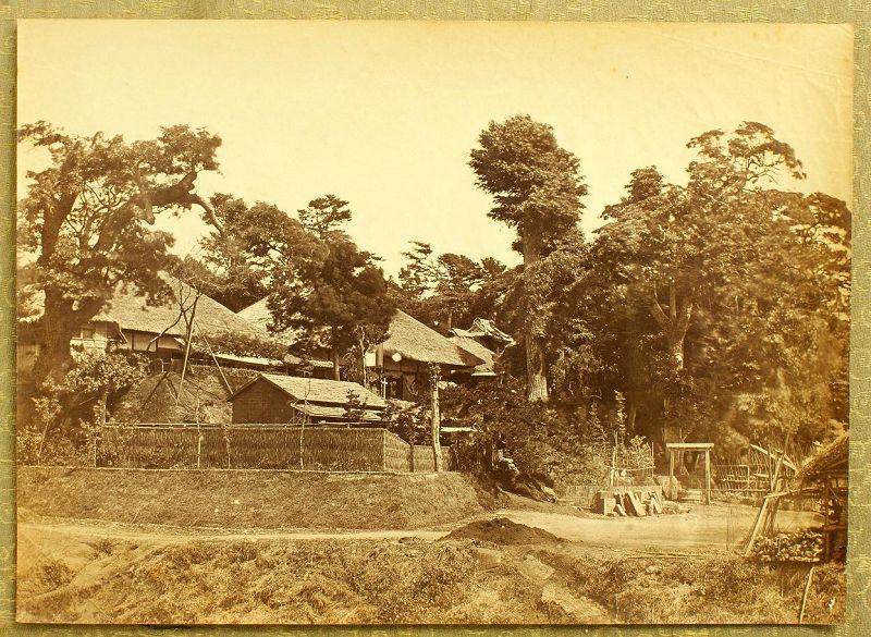 Original Japanese Albumen Photo of Yokohama by Beato. 1865, Edo Period
