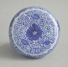 Fine Chinese Blue & White Porcelain Covered Box - Kangxi (1662 - 1722)