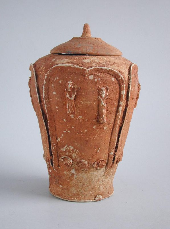 Chinese Song / Yuan Dynasty Pottery Buddhist Zodiac Jar