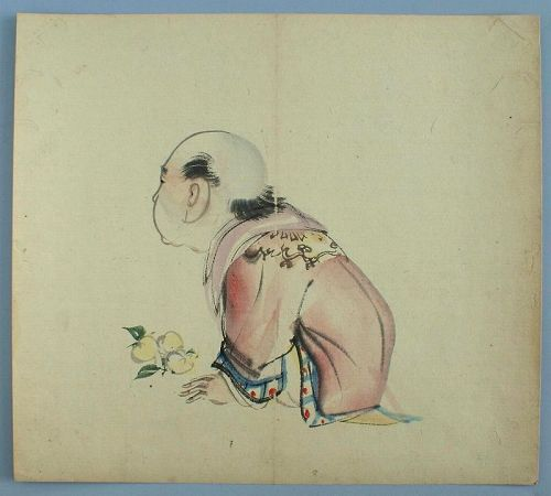 Fine Japanese Shijo Brush Drawing Attrib. Onishi Chinnen (1792 � 1851)