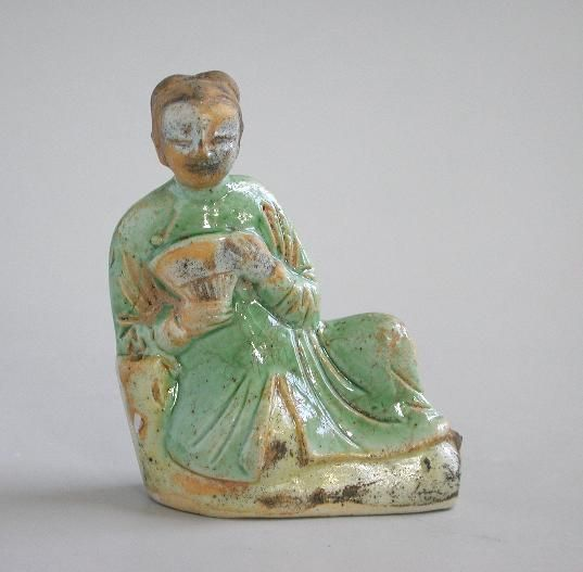 Fine Small Chinese Porcelain Figure of a Reclining Lady - Kangxi