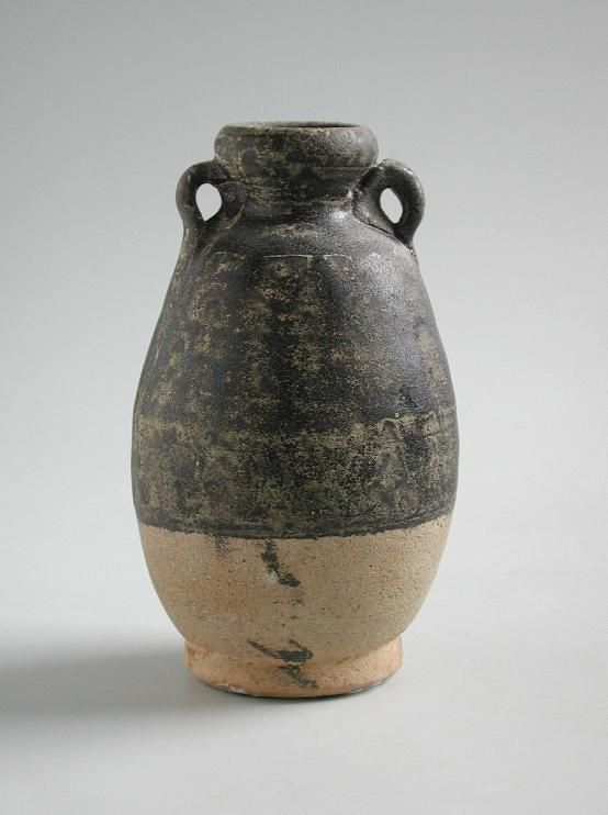 Thai 13th - 15th Century Stoneware Bottle