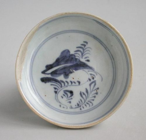 Chinese Ming Dynasty Small Blue & White Porcelain Dish