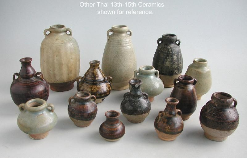 Small Thai 13th - 15th Century Stoneware Jar