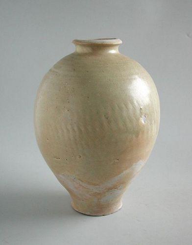 Large Chinese Tang Dynasty Glazed Stoneware Jar