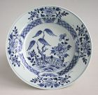 Chinese Qianlong Blue & White Porcelain Dish / Bowl