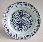 Fine Large Chinese Qianlong Blue & White Porcelain Dish