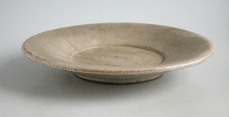 Large Chinese 17th Century Dehua / Blanc de Chine Dish (Ex. Museum)